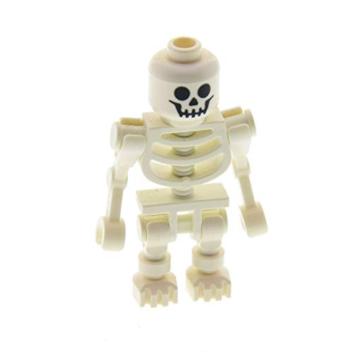 LEGO 1 x System Figur Skelett Weiss Standard Kopf Augen rund Skeleton 2 Arme abgewinkelt 3626bpb0001 6266 30377 60115 gen038