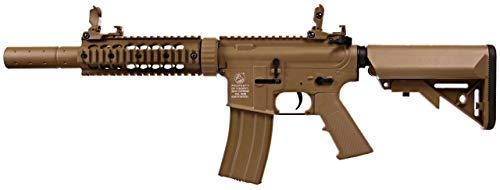 COLT Airsoft M4 Silent OPS AEG 180863 Cybergun Nylonfaser und Metall/Wüstenfarbe/Elektrisch (0,5 Joule) - Halbautomatik/Vollautomatik