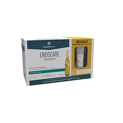 Endocare Radiance C Oil-Free Ampollas Piel Normal Grasa, 30x2ml + REGALO Heliocare 360 Water Gel SPF50+, 15ml