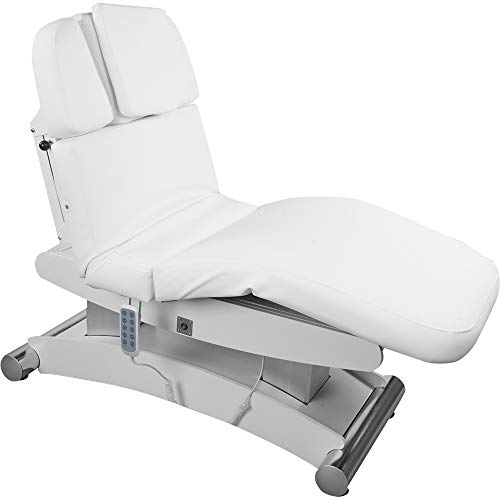 008102H Elektrische Massageliege mit Heizung Weiß Wellnessliege