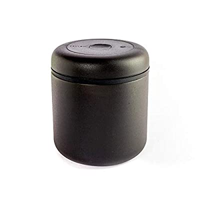 Fellow Atmos Vacuum Canister for Coffee & Food Storage, Matte Black, Large, 1.2 Liter, Integrated Vacuum Pump, Airtight Seal