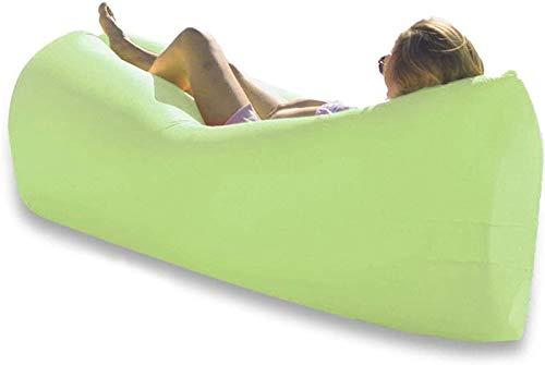 ZJDU Decoración Inflable Tumbona Impermeable soplando sofá, antileaking portátil Impermeable para Acampar Senderismo picnictraveling cómodo sillas de Playa para Adultos Hamaca Verde