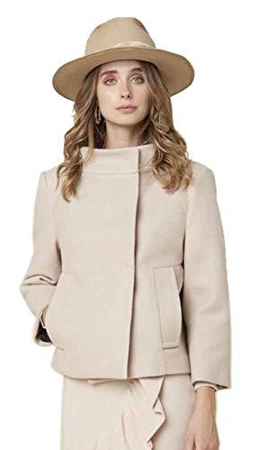 Silvian Heach kurzer glockenförmiger Beiger Mantel aus Stoff. A/I 2020/21 PGA20800CP GRÖSSE EU IT XL