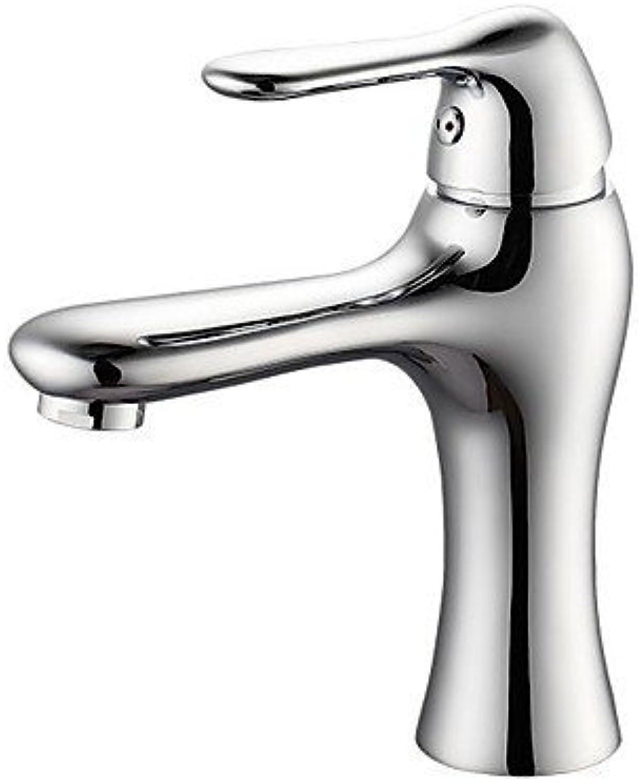 SEBAS Home Waschtischarmatur Entenschnabel Modellierung Galvanik Messing EIN Loch Einhandgriff Kalt- und Warmwasserhahn Wasserhahn Bad Wasserhahn Waschtischarmatur