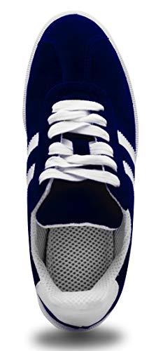 Sneakers - Unisex Schuhe - für Männer - Frauen - Teenager - Wildlederschuhe - Freizeitschuhe - Bequem - Leicht - Zum Wandern bei trockenem Wetter - Blau - Größe 41