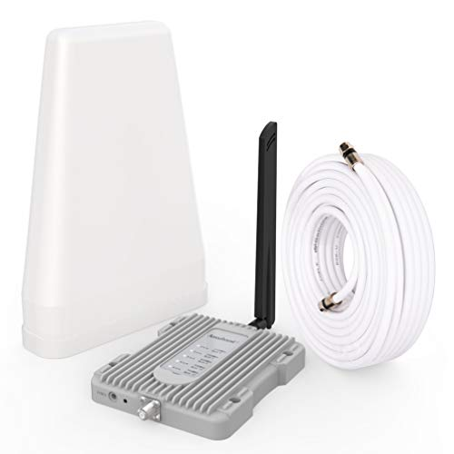 Amazboost Cell Phone Signal Booster Kit,All U.S. Carriers -Verizon,AT&T, T-Mobile, Sprint, U. S. Cellular-Cell Phone Booster Max 2,500 sq ft,Cell Signal Amplifier FCC Approved, 4g s2