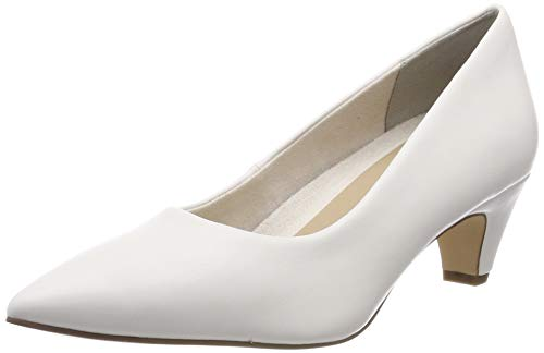 Tamaris Damen 1-1-22428-22 108 Pumps, Weiß (White Matt 108), 39 EU