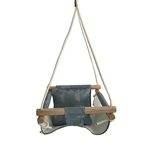 Baby Swing Hangmat Stoel Set Canvas Hangende Stoel met Kussen Todder Outdoor Indoor Tuin Houten Swing Rocker Lading Lading 50Kg