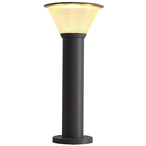 ZYLBDNB Lámpara de Piso Lámpara de césped Impermeable al Aire Libre Villa comunitaria Lámpara de pie de jardín de Parque de luz LED Simple Lámparas de pie para salón (Color : Black, Size : 60cm)