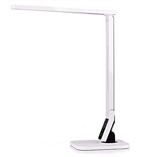 Yirunfa Inteligencia Plegable Lámpara Escritorio Lámpara Escritorio LED Cuidado Ojos Alimentado por USB 4 Colores Ajustables para casa, Trabajo, Dormitorio