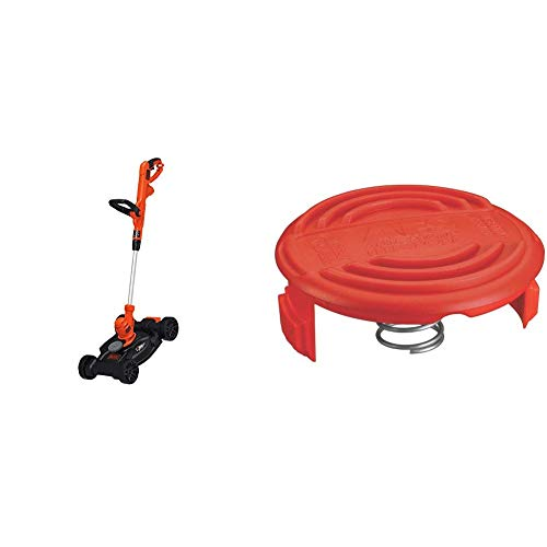 Lowest Price! BLACK+DECKER Electric Lawn Mower with Trimmer Line Cap and Spring for AFS Trimmer (BES...
