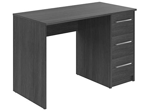 Movian Idro moderner Schreibtisch mit 3 Schubladen, 56 x 110 x 73,5, Grau