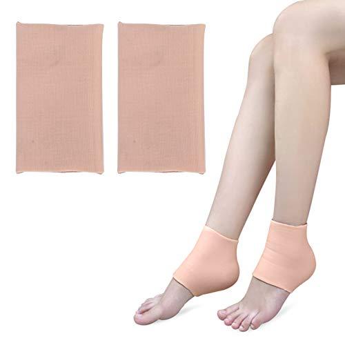 Protectores de mangas de talón, almohadillas de talón para pies, almohadillas de gel de silicona para talón, copas de cojín para espolón óseo, curación en seco