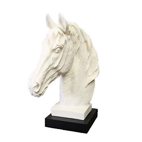 YJKJ Estatua, Escultura Creativa Casera Decoración De Cabeza De Caballo Adornos De Animales Regalo Maravilloso