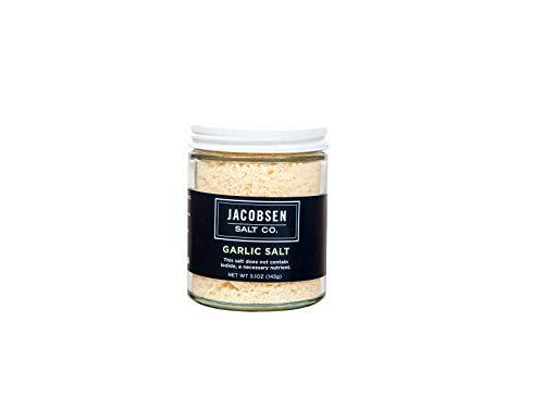 Jacobsen Salt Co. Specialty Sea Salt for Fancy Gourmet Cooking, Infused Sea Salt, Garlic Flavored, 5 oz