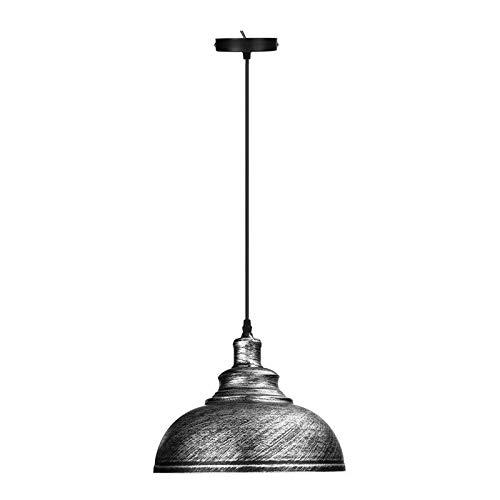 LEDSONE Moderne kroonluchter plafond lampen opknoping lamp E27 industriële Vintage hanglamp Geborsteld zilver