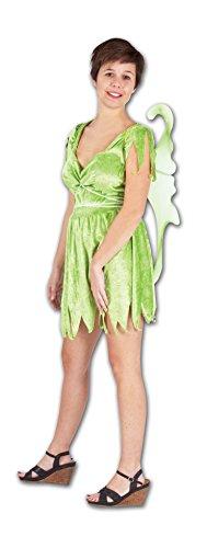 WS Tinkerbell Kostüm Damen Fee Flügel Tinker Wald Karneval Fasching