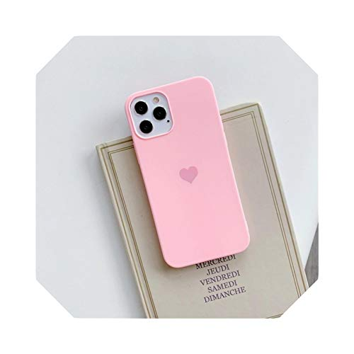 Carcasa para iPhone 12 Pro Mini 11 XS Max XR X 6 6S 8 7 Plus se 2 Soft TPU Silicona Candy Color Back Cover-Pink-for iPhone XR