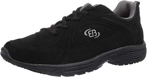 BRÜTTING-hiker-homme-noir-walkingschuhe chaussures matelas grande taille - Noir - Noir, 47 EU