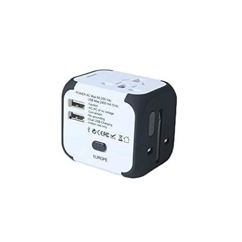 Adaptador de Corriente Universal para Viajes Inter Trave Mundial USB Adaptador de Enchufe Kit, Puertos USB Cargador de Pared TIENDOS DE TIENDOS 110V 220V A/C para USA UE UK AUS Teléfono Celular Euro