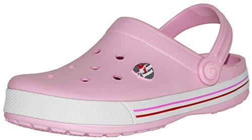 Beppi Pinke Mädchen Clogs Pantoletten - Weiche Kinderschuhe für Daheim, Pink, Gr. 36