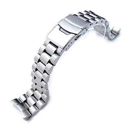 XXSHN Correa de Reloj Endmill de 22 mm para Seiko Diver SKX007, Acero Inoxidable Macizo Cepillado