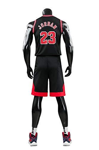 LZ123456 Movement Chicago Bulls # 23 Kits De Camiseta De Michael Jordan, Uniforme De Baloncesto para Hombre Y Mujer, Chaleco De Gimnasio/Camiseta Deportiva Y Pantalones