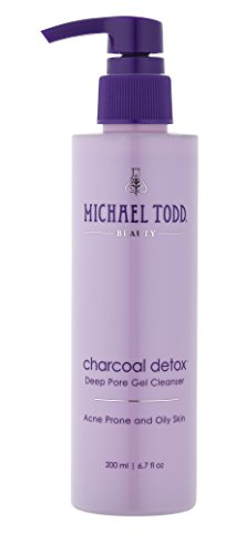 Michael Todd Beauty - Charcoal Detox Deep Pore Gel Cleanser, Formulated with Highly Absorbent Activated Charcoal, Tea Tree and Botanical Extracts, 6.7 Fl Oz