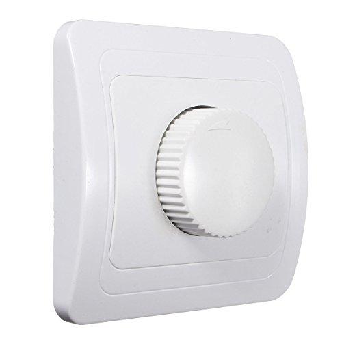 Atenuador de luz - SODIAL(R)110V / 220V Regulador ajustable del amortiguador regulable para bombilla de luz regulable de color blanco