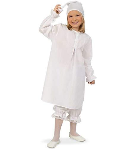 KarnevalsTeufel Kostüm - Set Schlafmütze für Kinder | 3-TLG. Nachthemd, Schlafhose und Mütze | Träumer, Traumwandler, Karneval (128)