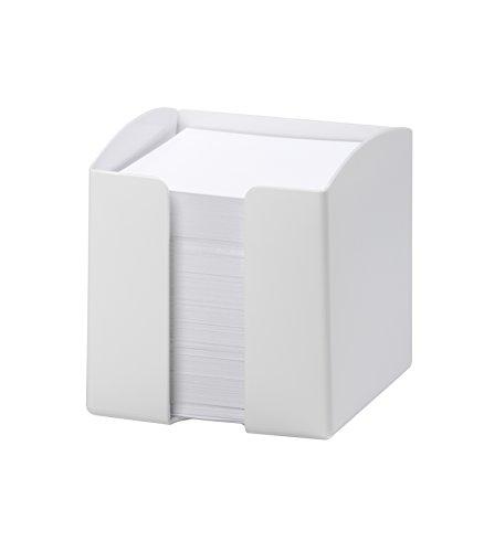 Durable 1701682010 Portamemo Trend, 800 Foglietti Bianchi, Formato 93 x 93, Apertura sul Lato Frontale, 100 x 105 x 100 mm, Bianco