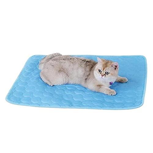 Alexny Colchonetas para Mascotas, colchonetas autorefrigerantes para Perros y Gatos, colchonetas de Seda fría, Camas para Perros para Dormir en Verano, Suministros para Mascotas