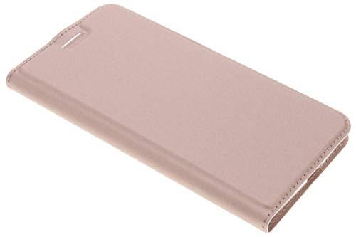 Dux Ducis - Handyhülle für Motorola Moto Z2 Force - Leder Flip Schutzhülle Tasche Hülle mit Kartenfach - Rosa