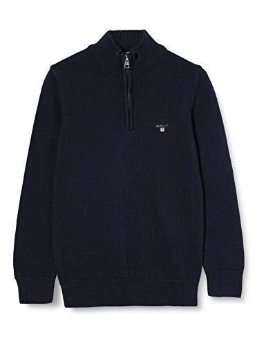 GANT Jungen Casual Cotton Half Zip Pullover, Evening Blue, 170