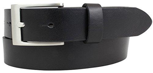 Kinder-Gürtel aus Vollrindleder 3,0 cm | Ledergürtel für Jungen/Mädchen 30mm | Jeans-Gürtel Jeans Anzug Kleid Rock 3cm | Schwarz 65cm