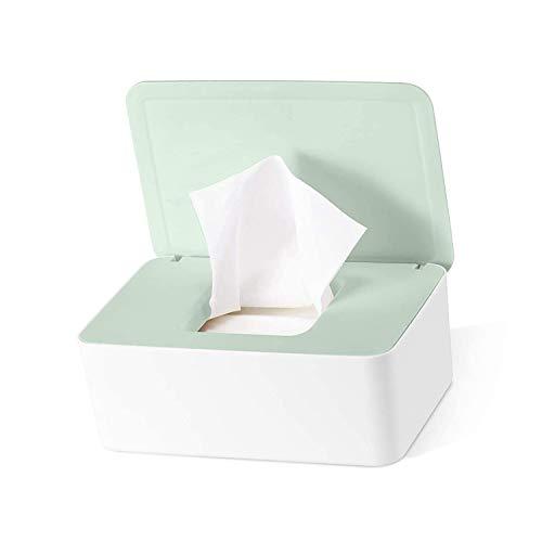 TOCYORIC Feuchttücher-Box, Baby Feuchttücherbox, Tissue Aufbewahrungskoffer, Toilettenpapier Box, Taschentuchhalter, Kunststoff Feuchttücher Spender,Tücherbox,Serviettenbox für Zuhause und Büro(Grün)