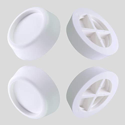 HaftPlus - 4 Stück Schwingungsdämpfer für Waschmaschine und Trockner - Praktische Waschmaschinenunterlage und Schutz-dämpfer, stoppt Vibrationen und verhindert wandern