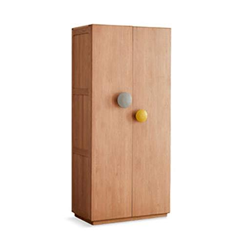 Dfghbn Armario para niños, de puerta plana, de roble, moderno, minimalista, pequeño apartamento, armario de almacenamiento individual (color: marrón, tamaño: 220 x 56 x 90 cm)