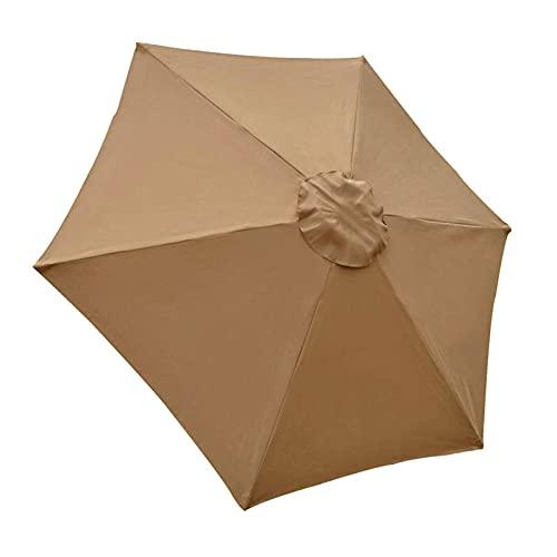 Hotsel Cubierta De Tela para Toldo Parasol De Repuesto para Cubierta De Toldo Tela De Recambio para Sombrilla Parasol Capota Impermeable para Sombrilla De Repuesto Protección Solar Y UV