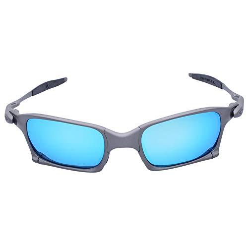 letaowl Gafas de Bicicleta MTB Bicicleta 100% Polarizadas Gafas de Aleación Marco de Bicicletas Gafas de Sol Gafas de Ciclismo Gafas Verde