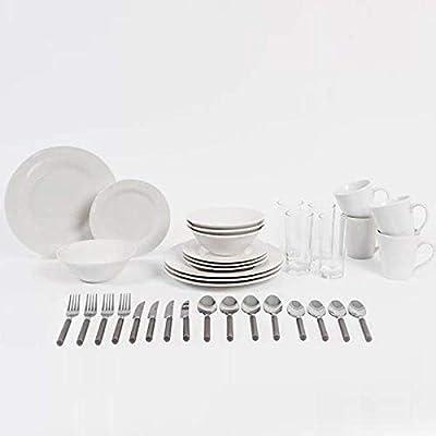 Sabichi 36pc Dining Starter Set, Porcelain, White, 24.5 x 31 x 33 cm from Sabichi