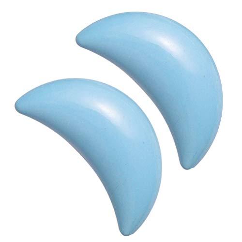 Garneck 2Pcs Boutons de Tirage en Céramique en Forme de Lune Meubles Poignées Tiroir Armoire Tirette pour La Maison Bleu