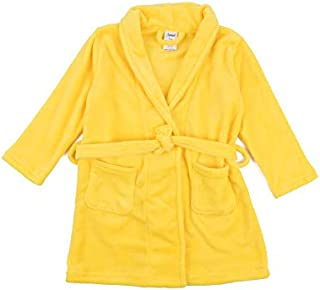 Image of Bright Yellow Fleece Bath Robe for Girls - See More Solid Colors