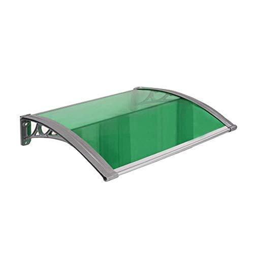 WXQ Eingangstür EIN Überdach Vordach Haustür Überdachung Haustürvordach Polycarbonat Transparentes Wetterfest Haustür Sonne Schutz (Color : Green, Size : 80cmx100cm)