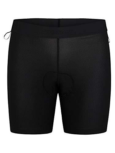 Ziener Damen NENZI X-Function Fahrrad-Unterhose/Rad-Innenhose/Mountainbike-Unterwäsche - sehr atmungsaktiv|gepolstert|schnelltrocknend|elastisch, Black, 44