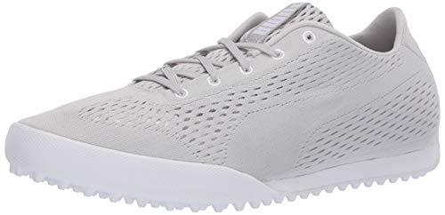 Puma Golf Women's Monolite Cat Engineered Mesh Golf Shoe, Gray Violet-Puma White, 8.5 M US