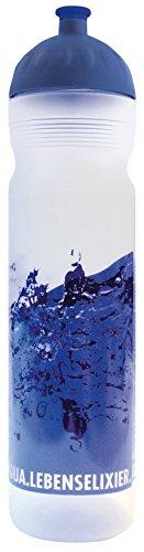 ISYbe Original Marken-Trink-Flasche für Jugend und Erwachsene, 1000 ml, BPA-frei, Wasser-Motiv, geeignet für Schule, Reisen, Sport & Outdoor, Auslaufsicher auch mit Kohlensäure, Spülmaschine-fest