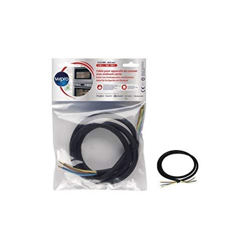 WPRO CCB340/1 - Câble H05 RRF 3G4 sans prise - longueur 1,45m pour appareils de cuisson < 5750 watts