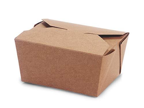 """Bio Pak Take Out Boxes - #1 Bio Plus Earth Recycled Kraft Mini Pk 5x4-1/4x2-1/2"""" (3 Packs; 50 Boxes Per Pack) - WRAPS-EA1BPM"""