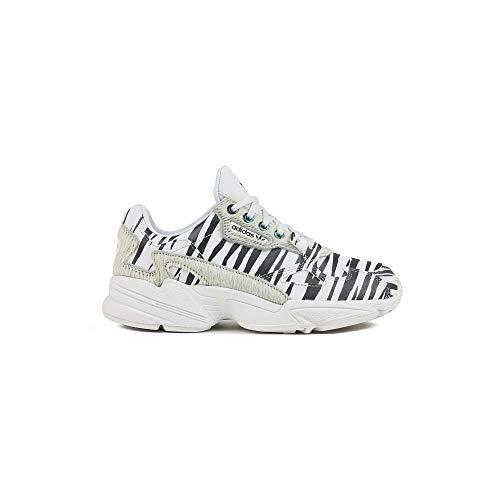 adidas Sportschuhe für Damen Falcon Farbe Crystal White Zebra größe 39 1/3